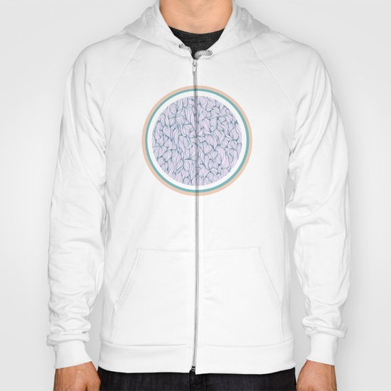 Circle: blue and beige Hoody