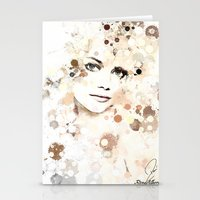 emma stone Stationery Cards featuring Emma Stone by Rene Alberto