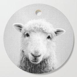 Sheep - Black & White Cutting Board