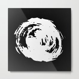 Whorl Black and White Metal Print