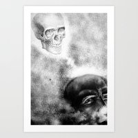 evil Art Prints featuring Evil by shaunsheep