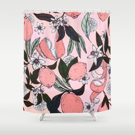 Flowering in the pink oranges Shower Curtain