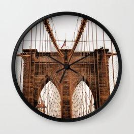 Brooklyn Bridge Manhattan, New York City (NYC) Wall Clock
