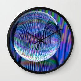 lights in the globe Wall Clock
