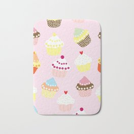 Cupcakes Party Artwork Bath Mat