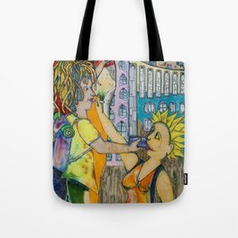 The castle on the rock and other sights Tote Bag
