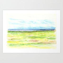 Sea meadow Art Print