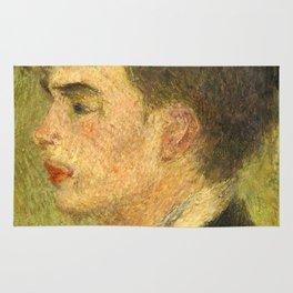 Georges Rivière Oil Painting by Auguste Renoir Rug