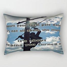 Support your Lineman Rectangular Pillow