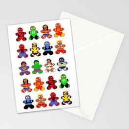 Superhero Gingerbread Man Stationery Cards