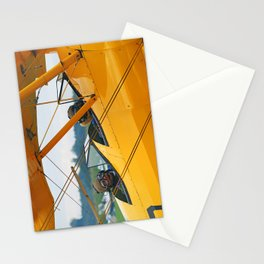 Oldtimer yellow plane Stationery Cards