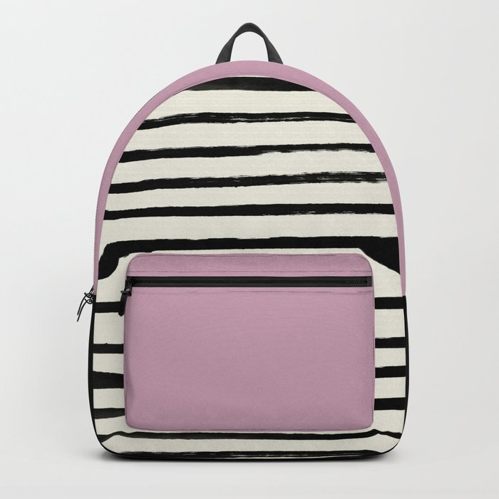 Dusty Rose & Stripes Backpack