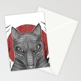 Four Arms - Wolf Stationery Cards