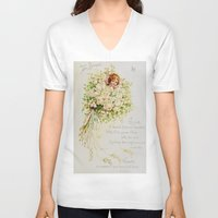 wedding V-neck T-shirts featuring Wedding Bells by Lucia