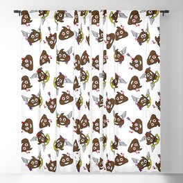 valentines poo emoji Blackout Curtain