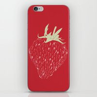 strawberry iPhone & iPod Skins featuring Strawberry by Julia Kisselmann