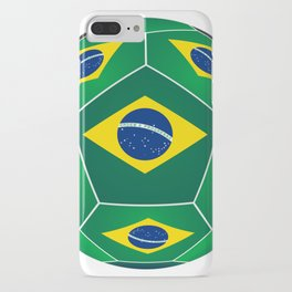Soccer ball with Brazilian flag iPhone Case