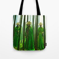 china Tote Bags featuring China  by Saundra Myles