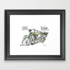 RUDGE, 1911 motorcycle, UK Framed Art Print