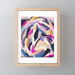 inner space flowers Framed Mini Art Print