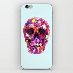 FLOWERS SKULL iPhone & iPod Skin