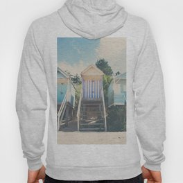 beach huts photograph Hoody