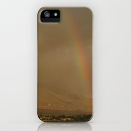Rainbow in Hawaii iPhone Case