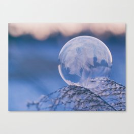 A Single Snowflake (Color) Canvas Print
