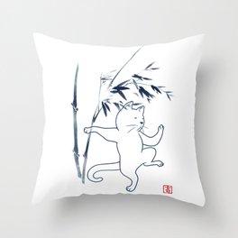Tai Chi Cat 03 Throw Pillow