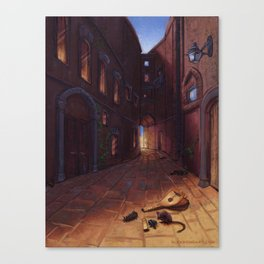 An Alley In Tarbean Canvas Print