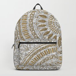 Elegant hand drawn tribal mandala design Backpack