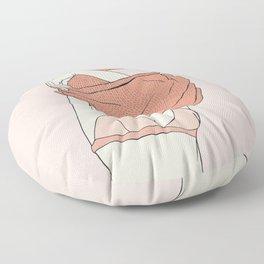 Sweater Struggles Floor Pillow