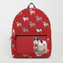 Three Frenchies Backpack