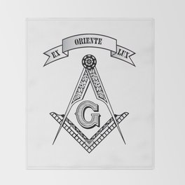Freemasonry symbol Throw Blanket