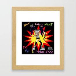 Luchadora Framed Art Print