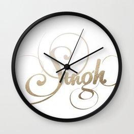 Singh Wall Clock