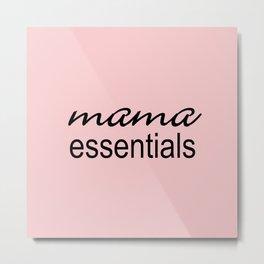 Mama Essentials Pantone 2016-Rose Quartz Metal Print
