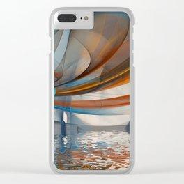 broken fractal -1- Clear iPhone Case
