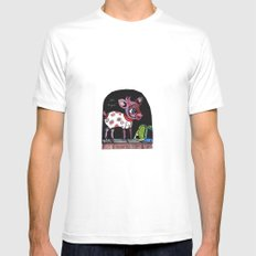 Bambi has just escaped... MEDIUM Mens Fitted Tee White