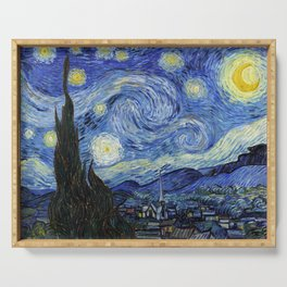 Starry Night by Vincent Van Gogh Serving Tray