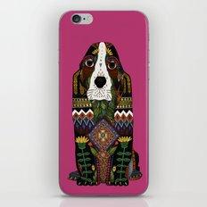 Basset Hound fuchsia pink iPhone & iPod Skin