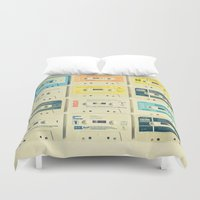 switzerland Duvet Covers featuring All Tomorrow's Parties by Cassia Beck