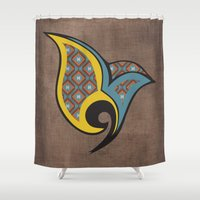 persian Shower Curtains featuring Persian Bird by Katayoon Photography