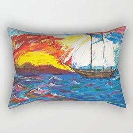 Sailboat at Sea Rectangular Pillow