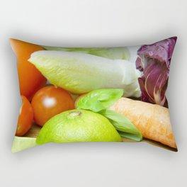 Fresh Vegetables - Restaurant or Kitchen Decor Rectangular Pillow