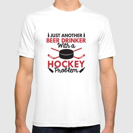 Beer Drinker Hockey T-shirt