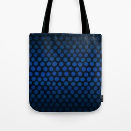 Slate Blue and Black Dots Ombre Tote Bag