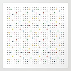 Pin Points Repeat Art Print