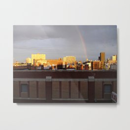 A photo out of the window of my old loft. Metal Print