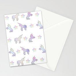 Pastel Unicorns Stationery Cards